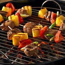 Asian Pork and Pineapple Kabobs.