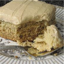 Banana Cake with Penuche Frosting.