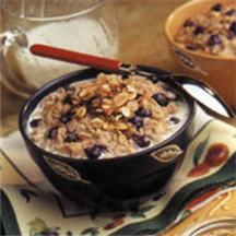Berry Almond Crumble Oatmeal.