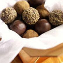 Bittersweet Chocolate Truffles with Parmesan.
