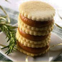Brown Butter Sandwich Cookies with Rosemary Caramel.