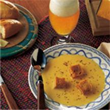 Cheddar, Swiss and Beer Soup.