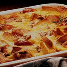 Cheese and Sausage Strata.