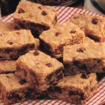 Chewy Choc-Oat Chip Bars.