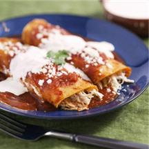 Chicken and Cheese Entomatadas.