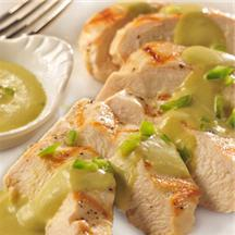 Chicken Breasts with Poblano Sauce.