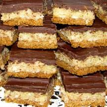Chocolate-Coconut Mounds Bars.