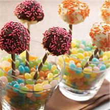 Chocolate-Dipped Cheesecake Pops.