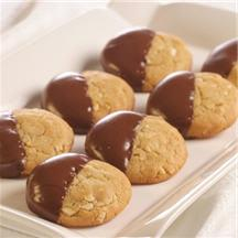 Chocolate Dipped Almond Cookies.
