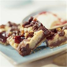 Chocolatey Raspberry Crumb Bars.