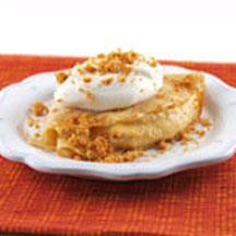 Cinnamon Crepes with Pumpkin Mousse and Graham Crust Crumble
