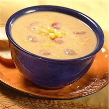 Corn Chowder with Bacon, Leeks and Potatoes.