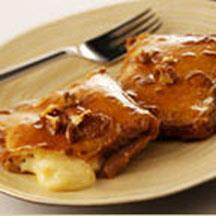 Crepes with Caramel and Mascarpone Cheese.