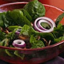 Cranberry Spinach Salad with Warm Honey Dijon Bacon Dressing.