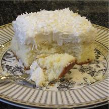 Cream of Coconut Cake.