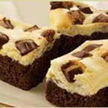 Creamy Way Galaxy Brownies with Sour Cream and Mascarpone Cheese.