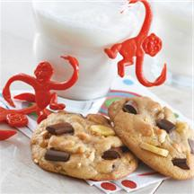 Crunchy Monkey Chocolate Chip Cookies.
