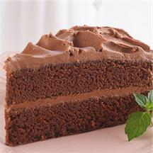Delicious Chocolate Cake with Rich & Creamy Chocolate Frosting.