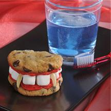Dracula's Dentures - Halloween Recipe.