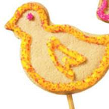 Easter Cookies on a Stick.