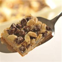 Extra Nutty Chocolate Chip Squares.
