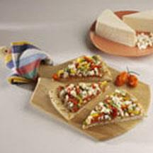 Fiesta Pizza with Queso Blanco Cheese.