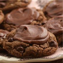 Frosted Double Chocolate Cookies.