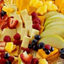Fruit and Cheese Cracker Stacks.