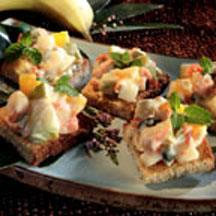 Fruit Salad Canapes.
