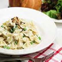Fusilli with Blue Cheese and Toasted Walnuts.
