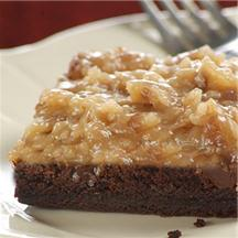 German Chocolate Brownies.
