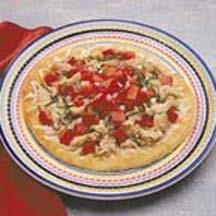 Grilled Tuna Italiano Pizza.