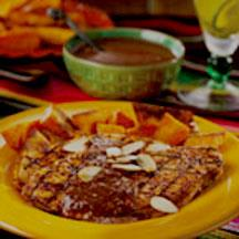 Grilled Turkey Cutlets with Chipotle Mole.