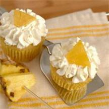 Honey Roasted Pineapple Cupcakes.