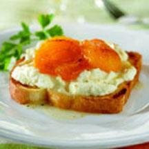 Lorena Garcia's Apricots and Ricotta Cheese Toast.