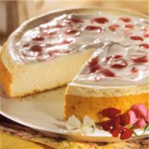 Low-Fat Berry Marble Cheesecake.