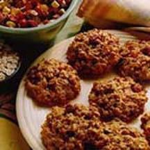 Lower-Fat Chewy Oatmeal Spice Cookies.