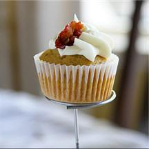 Maple Browned Butter Bacon Cupcakes.