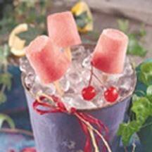 Maraschino-Lemonade Pops.