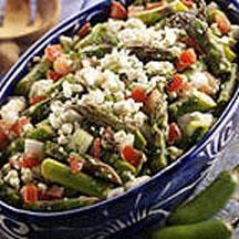 Mexican-Style Asparagus Salad with Queso Blanco.