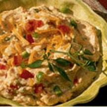 Mexican Dip with Cheddar Cheese.