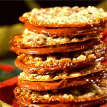 Milk Chocolate Florentines Cookies.