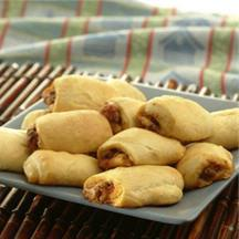 Mini Beef and Pepperoni Pizza Rolls.