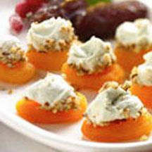 Blue Cheese Balls with Winter Fruit.