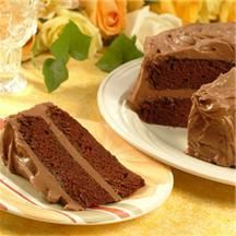 Moist and Chewy Chocolate Cake.