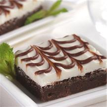 Moist and Minty Brownies.