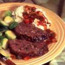 Mushroom Meatloaf with Pepper-Thyme Gravy.