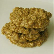 No-Bake Peanut Butter Oatmeal Cookies.