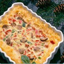 Noodle-Crusted Quiche Noel.