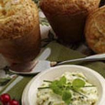 Oat Bran Popovers with Herb Butter.
